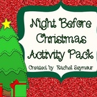 Night Before Christmas Activity Pack