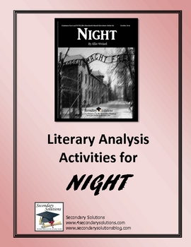 Night Literary Analysis Activity Pack