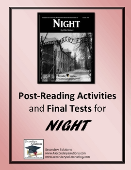 Night Post-Reading Activities and Two Final Tests
