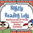 Nightly Reading Logs for EVERY 3rd Grade Common Core Readi