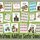 Nine Christmas Addition Center Games