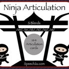 Ninja /s/ Blends: speech therapy, articulation
