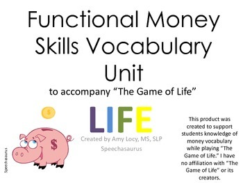 "No Print Functional Money Skills Unit to Accompany ""The Ga"