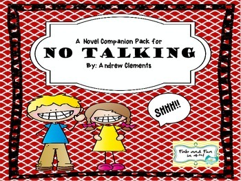 No Talking Novel Companion Pack