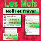 Noel - illustrated French word wall for Christmas