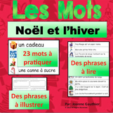 Les mots de Noel {Illustrated French word wall for Christmas}