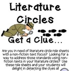 Non-Fiction Literature Circles Packet...Get a Clue! (Detec