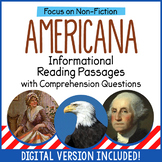 Informational Reading Passages with Comprehension Question