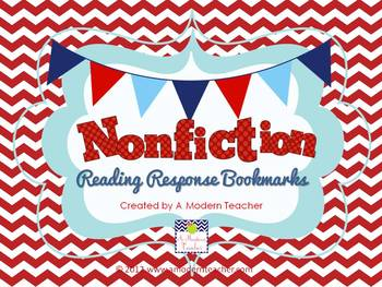 Non-Fiction Reading Response Bookmarks