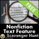 Non-Fiction Text Features Scavenger Hunt For All Subjects