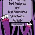 "Non-Fiction Text Features ""Words Up"" Activity"
