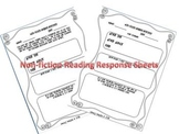 Non-fiction Reading Response Worksheets