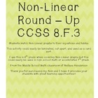 Non-linear Functions Round Up (Matching Activity) CCSS 8.F.3