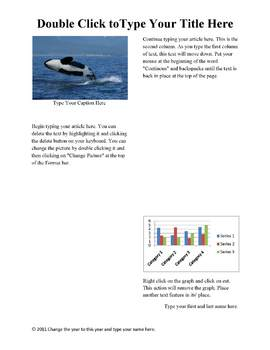 Nonfiction Article Student Template in MS Word 2007