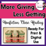 Nonfiction Close Reading - The Holidays: A Bit More Giving