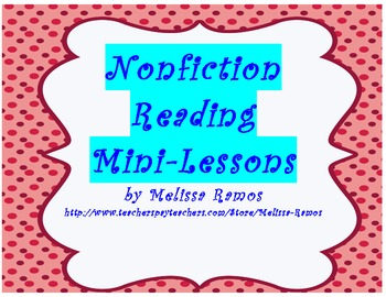Nonfiction Reader's Workshop Mini-lesson Objectives