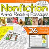 Nonfiction Reading Comprehension Passages Animals A-Z (Com