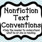 Nonfiction Text Conventions Posters FREEBIE!