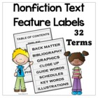 Nonfiction Text Feature Labels