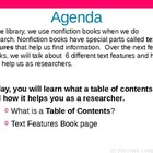 Nonfiction Text Features Book PowerPoint