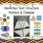 Nonfiction Text Structure Poster Set and Foldable