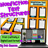 Craftivity: Nonfiction Text Structures  (featuring 20 passages!!)