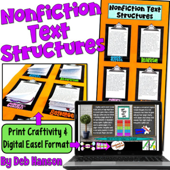 Nonfiction Text Structures Craftivity (featuring 20 passages!!)