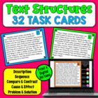 Nonfiction Text Structures Task Cards (24 task cards)