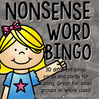 DIBELS Nonsense Word BINGO