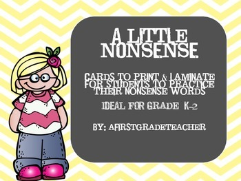 A Little Nonsense Word Cards Set One