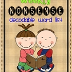 Nonsense Word Checks