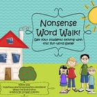 Nonsense Word Walk! {Fun With Words~Cake Walk Style}