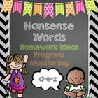 Nonsense Words Homework for Dibels and Dibels Next Practice