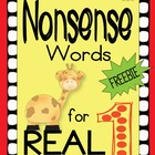 Nonsense Words for REAL (DIBELS practice)