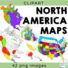 North America Map Clipart (maps and country outlines)