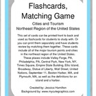 Northeast Region - Cities and Tourism, Flashcards/Matching