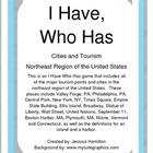 Northeast Region - Cities and Tourism, I Have Who Has Game