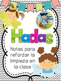 Notas de las hadas de limpieza (Clean Fairy notes in Spanish)