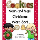Noun and Verb Christmas Cookie Word Sort