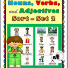 Nouns, Verbs, and Adjectives Sorting Activity – Set 2