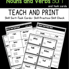Nouns and Verbs Sorting Activity Pack