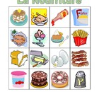 Nourriture (Food in French) Bingo