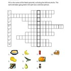 Nourriture (Food in French) acrostic puzzles