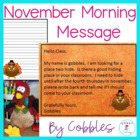 Nov Morning Message - Common Core ELA -Thanksgiving - DOL
