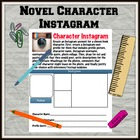 Novel Character Instagram Activity