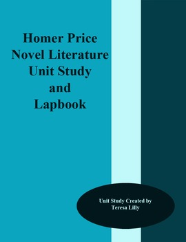 Novel Literature Unit Study and Lapbook: Homer Price