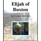 Novel Study, Elijah of Buxton (by Christopher Paul Curtis)