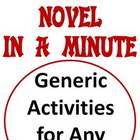 Novel in a Minute - 18 pgs of Activities - Any Novel