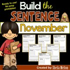 November Build the Sentence! {20 print, go, cut and paste