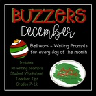 December Buzzer Packet (Bell Work-Journal) Common Core Wri